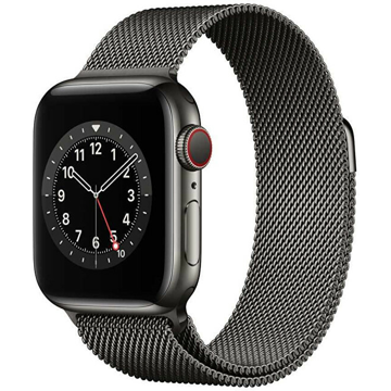 Apple Apple Watch Series 6 GPS + Cellular, 40mm Graphite Stainless Steel Case with Graphite Milanese Loop
