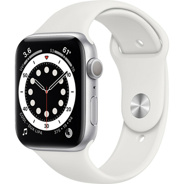 Apple Apple Watch Series 6 GPS + Cellular, 40mm Silver Aluminium Case with White Sport Band - Regular