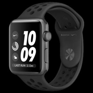 Apple Watch Series 3 Nike+ 42mm vesmírně šedý hliník s antracitovým/černým Nike sportovním řemínkem - SLEVA