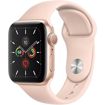 Apple Watch Series SE 40mm zlatý hliník s pískově růžovým sportovním řemínkem - SLEVA