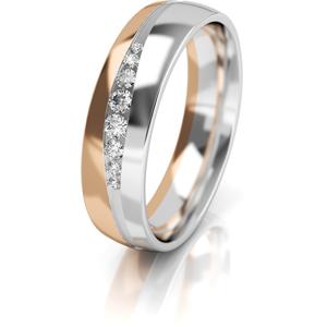 Art Diamond Dámský bicolor snubní prsten ze zlata se zirkony AUGDR002 50 mm