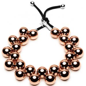 #ballsmania Originální náhrdelník C206MIRR-GOLD ROSA Mirror