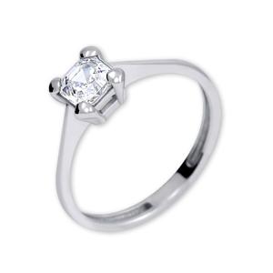 Brilio Silver Stříbrný zásnubní prsten s krystalem 426 001 00427 04 - 1,62 g 54 mm