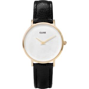 CLUSE MINUIT LA PERLE GOLD WHITE PEARL/BLACK LIZARD CL30048
