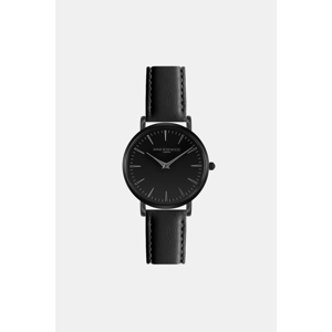 Dámské hodinky s černým koženým páskem Annie Rosewood