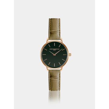 Dámské hodinky s khaki koženým páskem Annie Rosewood