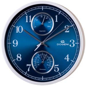 DOGENI Nástěnné hodiny s tichým chodem, teploměrem a vlhkoměrem WFP001SL