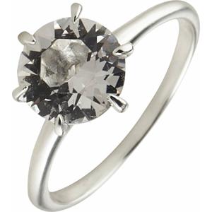 ELLI Prsten bílá / stříbrná