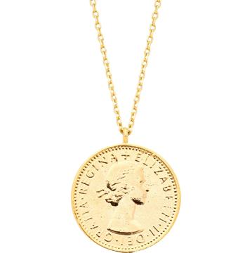 Estella Bartlett Řetízek 'Lucky 6 Pence' zlatá