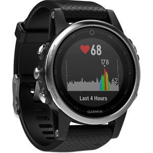 Garmin Fenix 5S Silver Optic Black band - SLEVA