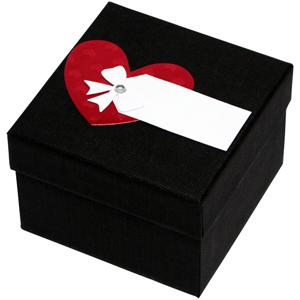 Giftisimo Luxusní dárková krabička s červeným srdíčkem GF0009