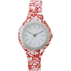 heine Analogové hodinky korálová / bílá