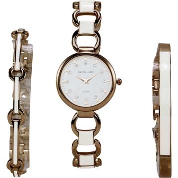 heine Analogové hodinky růže / bílá / bronzová