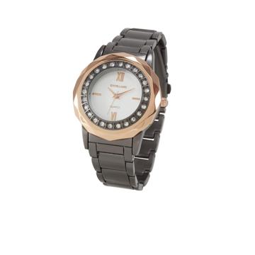 heine Analogové hodinky zlatá / grafitová / bílá