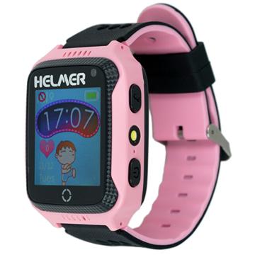 Helmer Chytré dotykové hodinky s GPS lokátorem a fotoaparátem - LK 707 růžové - SLEVA V