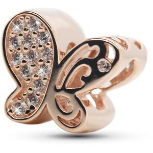 Infinity Love Bronzový korálek Motýlek HSZ-1164-ROSE