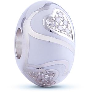 Infinity Love Srdíčkový korálek HE-361-S