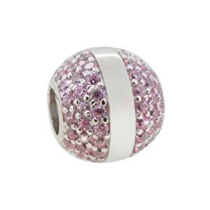 Infinity Love Stříbrný korálek s fialovými krystaly HSZ-836-P-S