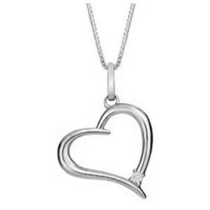 JVD Stříbrný přívěsek Srdce SVLP0583XH2BI00