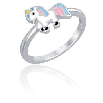 JVD Stříbrný prsten s jednorožcem SVLR0392SH2BA 49 mm