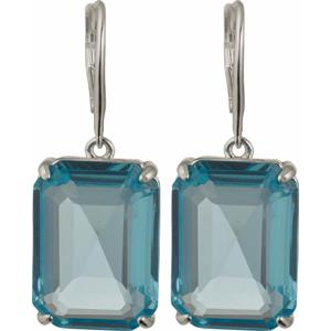Lauren Ralph Lauren Náušnice stříbrná / aqua modrá