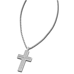 Lotus Style Ocelový náhrdelník s křížkem LS1676-1/1