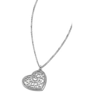 Lotus Style Srdíčkový ocelový náhrdelník LS1668-1/1