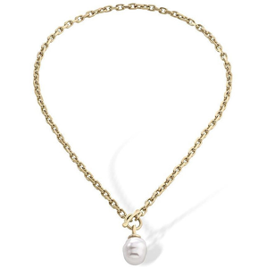 Majorica Pozlacený ocelový náhrdelník s barokní perlou 15288.01.4.000.010.1