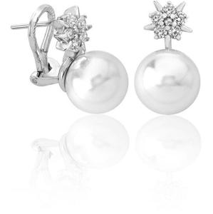 Majorica Stříbrné náušnice s perlou a hvězdičkou 15315.01.2.000.010.1