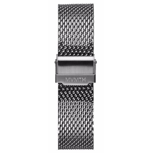 MVMT MENS VOYAGER SERIES 21MM MESH BAND SILVER