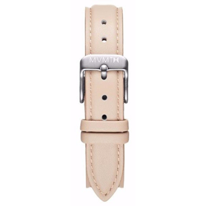 MVMT WOMENS AVENUE SERIES 14MM NUDE LEATHER SILVER