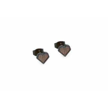 Náušnice s dřevěným detailem Apis Nox Earrings Heart