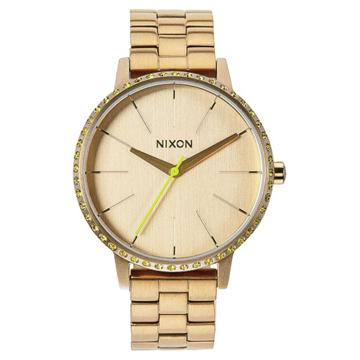 Nixon KENSINGTON ALLGOLDNEONYELLOW analogové sportovní hodinky - žlutá