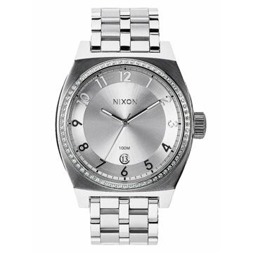 Nixon MONOPOLY ALLSILVERCRYSTAL analogové sportovní hodinky - šedá