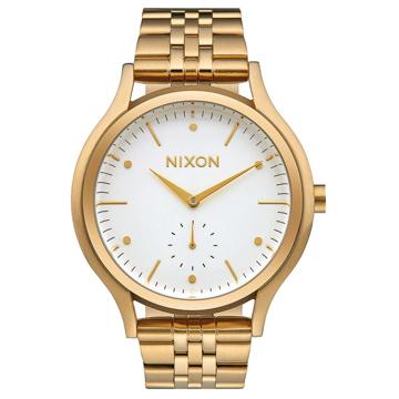 Nixon SALA GOLDWHITE analogové sportovní hodinky - bílá