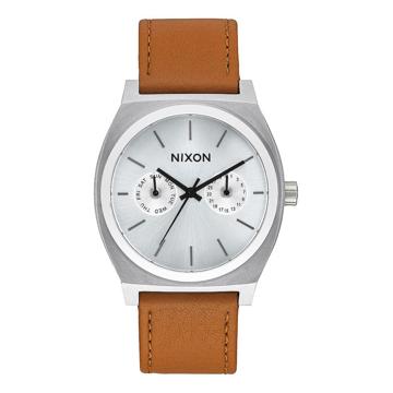 Nixon TIME TELLER DELUXE L SILVERSUNRAYSADDLE analogové sportovní hodinky - šedá