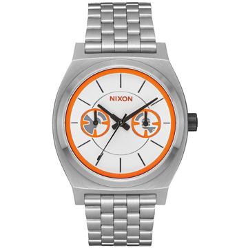Nixon TIME TELLER DELUXE STAR WARS BB-8/SI analogové sportovní hodinky - šedá