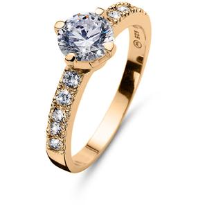 Oliver Weber Pozlacený stříbrný prsten Relate 63238G M (53 - 55 mm)