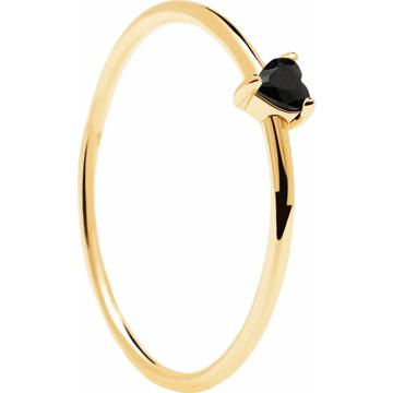 P D PAOLA Prsten zlatá / černá