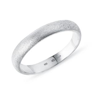 Pánský snubní prsten z bílého zlata KLENOTA