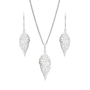 Praqia Designová stříbrná sada Lístečky SE1751_MO040_50_NA0934_RH