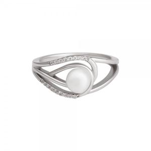Prsten se syntetickou perlou 125-393-4081 51