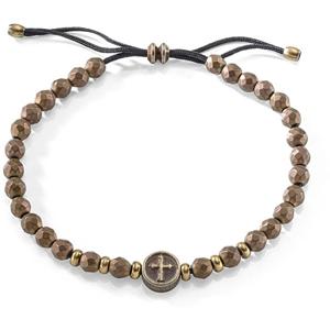 Sector Jewels Pánský korálkový náramek s křížem SAIH07