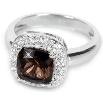 Silver Cat Stříbrný prsten s krystalem SC130 56 mm