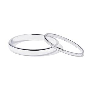 Snubní prsteny z bílého zlata KLENOTA
