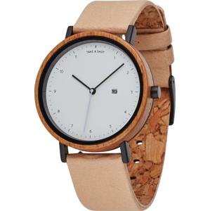 TAKE A SHOT Analogové hodinky 'Amber' béžová / hnědá / bílá