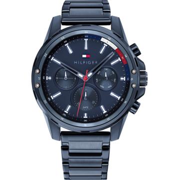 TOMMY HILFIGER Analogové hodinky 'Mason' marine modrá