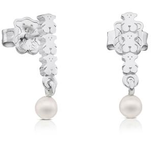 Tous Stříbrné náušnice s pravými perlami 512723530
