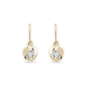 Zlaté náušnice s diamanty KLENOTA