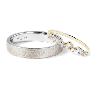 Zlaté snubní prsteny s diamanty KLENOTA